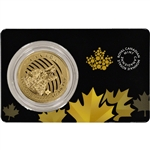 2014 Royal Canadian Mint Gold (1 oz) .99999 Pure Howling Wolf $200 in Assay