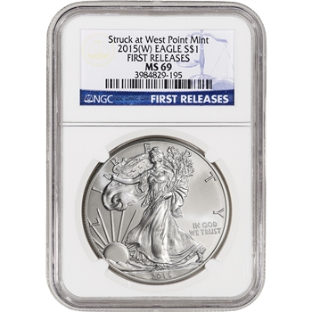 2015-(W) American Silver Eagle - NGC MS69 First Releases
