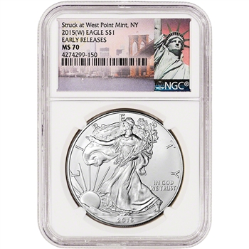 2015-(W) American Silver Eagle - NGC MS70 - Early Releases - New York Label