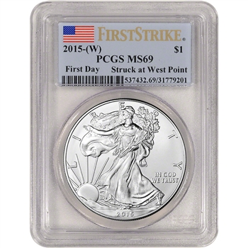 2015-(W) American Silver Eagle - PCGS MS69 - First Strike - First Day