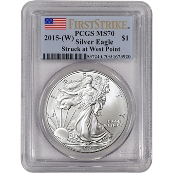2015-(W) American Silver Eagle - PCGS MS70 - First Strike