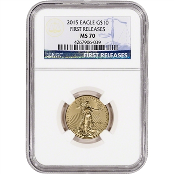 2015 American Gold Eagle (1/4 oz) $10 - NGC MS70 - First Releases
