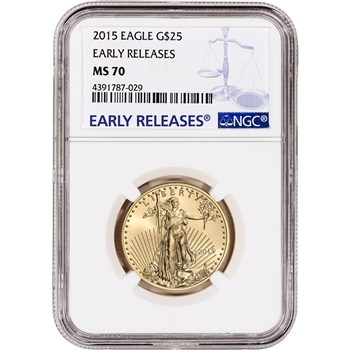 2015 American Gold Eagle 1/2 oz $25 - NGC MS70 Early Releases