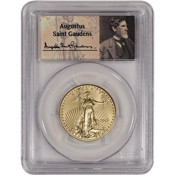 2015 American Gold Eagle (1/2 oz) $25 - PCGS MS70 - First Strike - St. Gaudens