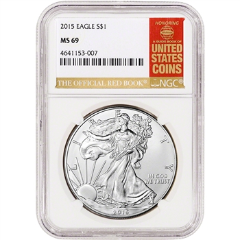 2015 American Silver Eagle - NGC MS69 - Red Book Label