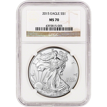 2015 American Silver Eagle - NGC MS70