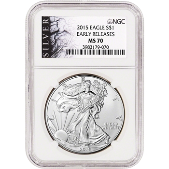 2015 American Silver Eagle - NGC MS70 - Early Releases - ALS Label