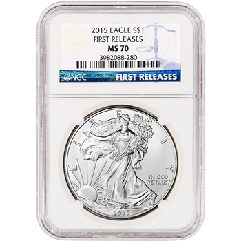 2015 American Silver Eagle - NGC MS70 - First Releases