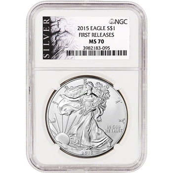 2015 American Silver Eagle - NGC MS70 - First Releases - ALS Label