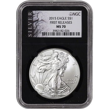 2015 American Silver Eagle - NGC MS70 - First Releases - ALS Label - Retro