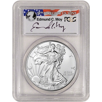 2015 American Silver Eagle - PCGS MS70 - First Strike - Moy Signed