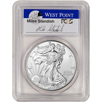 2015 American Silver Eagle - PCGS MS70 - First Strike - Standish Signed