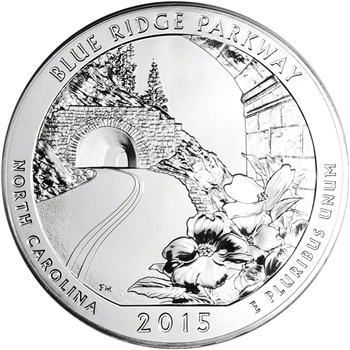 2015 ATB Blue Ridge Silver (5 oz) 25C - BU