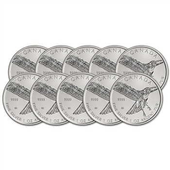 2015 Canada Silver Red-Tailed Hawk (1 oz) $5 BU - Ten 10 Coins