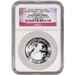 2015-P Australia Silver Kookaburra High Relief Proof (1 oz) $1 - NGC PF69 UCAM