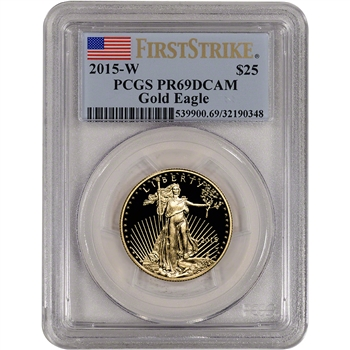 2015-W American Gold Eagle Proof (1/2 oz) $25 - PCGS PR69 DCAM First Strike