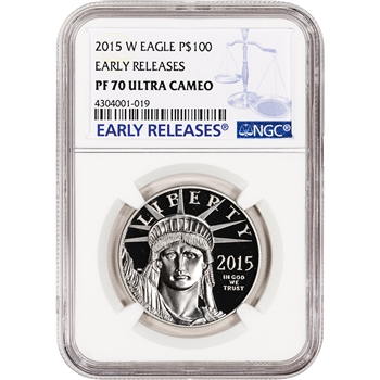 2015-W American Platinum Eagle Proof (1 oz) $100 - NGC PF70 Early Releases