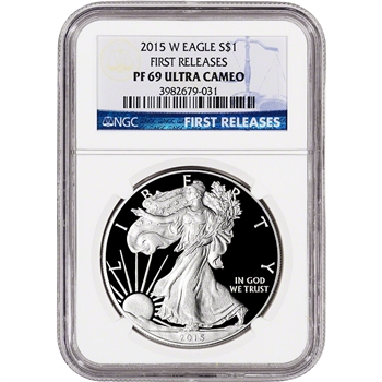 2015-W American Silver Eagle Proof - NGC PF69 UCAM - First Releases