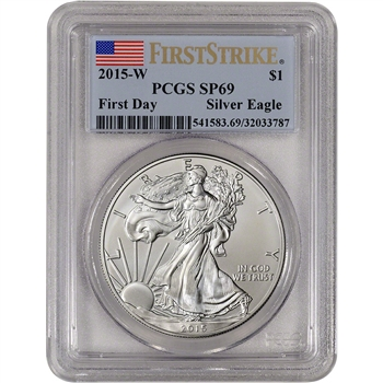 2015-W American Silver Eagle Burnished - PCGS SP69 - First Day Strike