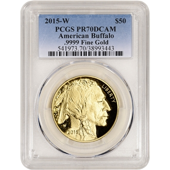 2015-W American Gold Buffalo Proof (1 oz) $50 - PCGS PR70 DCAM