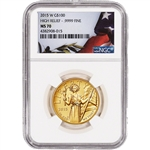 2015 American Liberty Gold High Relief (1 oz) $100 - NGC MS70 - Flag Label