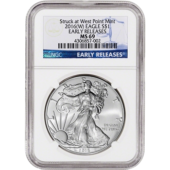 2016-(W) American Silver Eagle - NGC MS69 - Early Releases