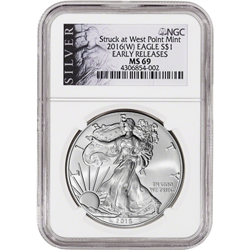 2016-(W) American Silver Eagle - NGC MS69 - Early Releases - ALS Label