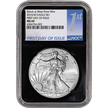 2016-(W) American Silver Eagle - NGC MS69 - First Day of Issue - 1st Label Retro