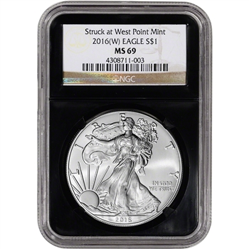 2016-(W) American Silver Eagle - NGC MS69 - Retro Black Core