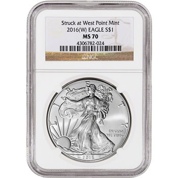 2016-(W) American Silver Eagle - NGC MS70