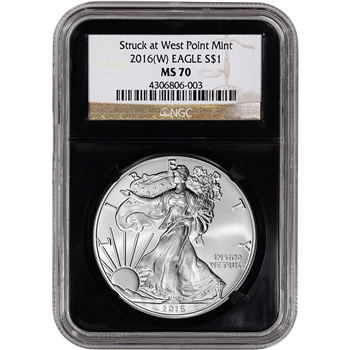 2016-(W) American Silver Eagle - NGC MS70 - Retro Black Core