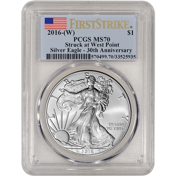 2016-(W) American Silver Eagle - PCGS MS70 - First Strike