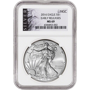 2016 American Silver Eagle - NGC MS69 - Early Releases - ALS Label
