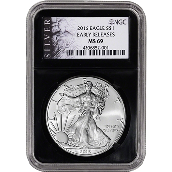 2016 American Silver Eagle - NGC MS69 - Early Releases - ALS Label - Retro