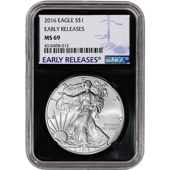 2016 American Silver Eagle - NGC MS69 - Early Releases - Retro Black Core