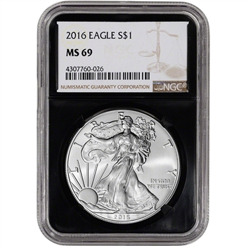 2016 American Silver Eagle - NGC MS69 - Retro Black Core