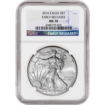 2016 American Silver Eagle - NGC MS70 - Early Releases