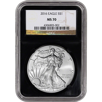 2016 American Silver Eagle - NGC MS70 - Retro Black Core
