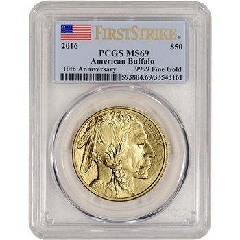 2016 American Gold Buffalo (1 oz) $50 - PCGS MS69 - First Strike
