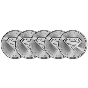 2016 Canada Silver Superman (1 oz) $5 BU - Five 5 Coins