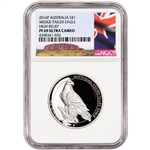 2016-P Australia Silver Wedge-Tailed Eagle High Relief Proof $1 - NGC PF69 Ayers