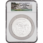 2016-P ATB Shawnee Silver (5 oz) 25C - NGC SP70 - First Day of Issue