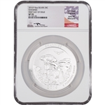 2016-P ATB Shawnee Silver (5 oz) 25C - NGC SP70 - First Day of Issue Mercanti