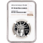 2016-W American Platinum Eagle Proof (1 oz) $100 - NGC PF70 UCAM