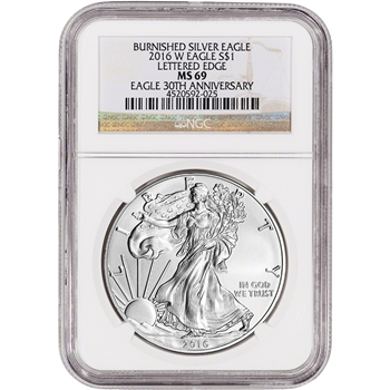 2016-W American Silver Eagle Burnished - NGC MS69