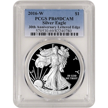 2016-W American Silver Eagle Proof - PCGS PR69 DCAM