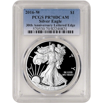 2016-W American Silver Eagle Proof - PCGS PR70 DCAM