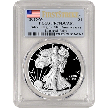 2016-W American Silver Eagle Proof - PCGS PR70 DCAM - First Strike