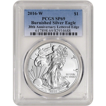 2016-W American Silver Eagle Burnished - PCGS SP69