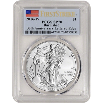 2016-W American Silver Eagle Burnished - PCGS SP70 - First Strike